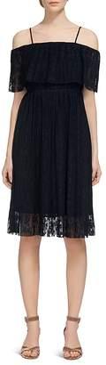 Whistles Cold-Shoulder Plissé Dress