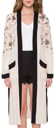 Willow & Clay Embroidered Kimono $144 thestylecure.com