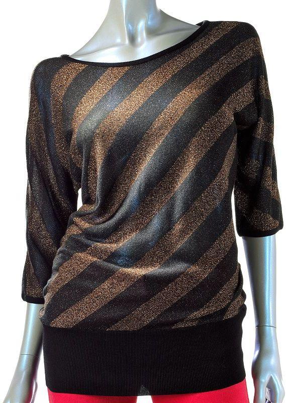 Rock & Republic Rock and republic lurex striped tunic sweater