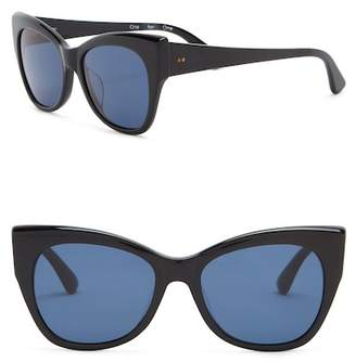 Toms 54mm Autry Shiny Black Sunglasses