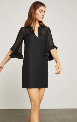 BCBGMAXAZRIA Tati Ruffle-Sleeve Dress