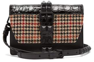 b2ba621851c9 Prada Elektra Tweed And Crocodile Leather Cross Body Bag - Womens - Black  Multi