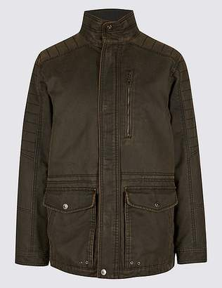 Marks and Spencer Washed Cotton Blend Parka