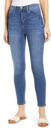 SP Black High Waist Crop Skinny Jeans