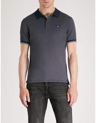 C.P. Company Logo-patch cotton-blend polo shirt