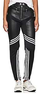 adidas by Alexander Wang Women's Leather-Embellished Jersey Trousers - Black