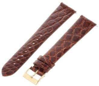 Artisan of Italy CITG500-0320ML Men's Classic Ultra-Thin Crocodile 20mm Tan Long Watch Strap