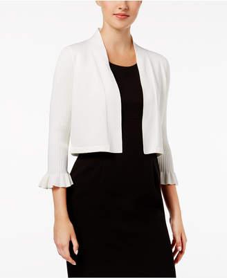 Calvin Klein Ribbed Bell-Sleeve Shrug