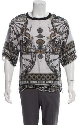 Dolce & Gabbana Printed Linen T-Shirt