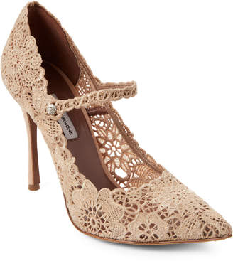 Tabitha Simmons Raleigh Crochet Mary Jane Pumps