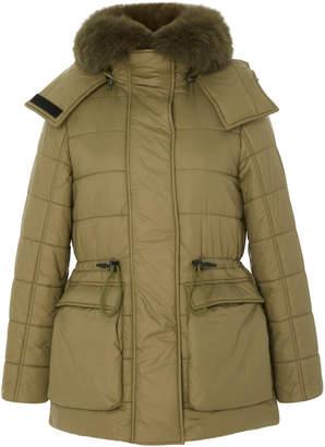 Yves Salomon Paris Fox Fur-Trimmed Shell Down Coat