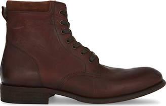Aldo Mens Cognac Classic Derrian Leather Ankle Boots