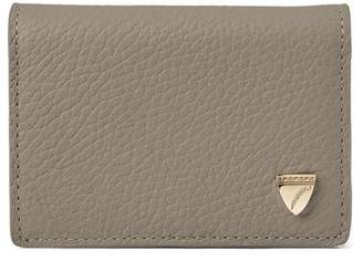 Aspinal of London Accordion Zipped Credit Card Holder In Warm Grey Pebble