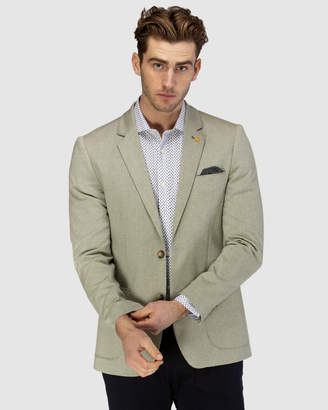 Brooksfield Stretch Herringbone Weave Blazer