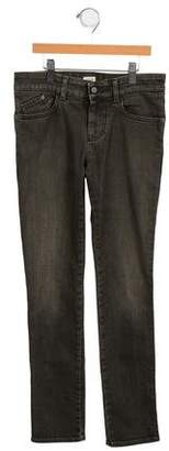 Armani Junior Girls' Mid-Rise Straight-Leg Jeans