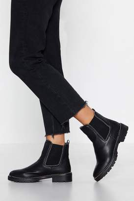 Nasty Gal They Don't Stud a Chance Chelsea Boot