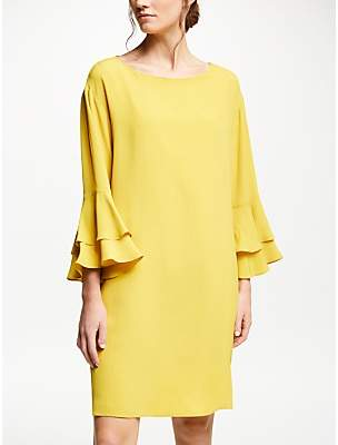 Marella Frill Sleeve Dress, Yellow