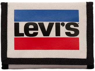 Levi's Logo Printed Canvas Coin Wallet