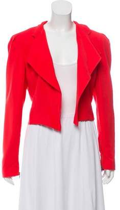 Alice + Olivia Cropped Open Front Blazer