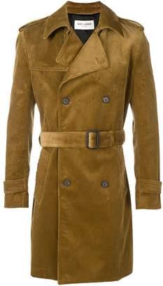Saint Laurent corduroy trench coat