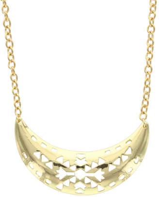 Sparkling Sage 14K Plated Bib Necklace