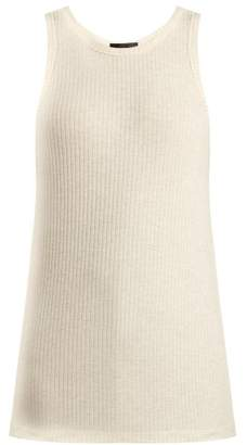 BEIGE Atm - Ribbed Jersey Tank Top - Womens