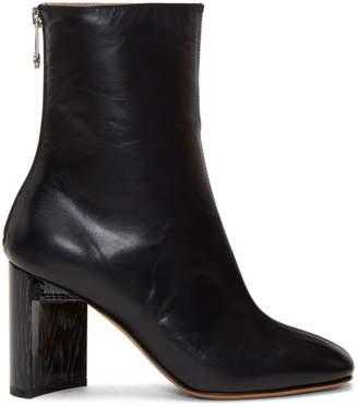 Maison Margiela Black Asymmetric Heel Boots