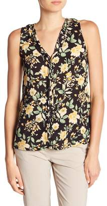 Bobeau B Collection by Lily Pleated Back Floral Print Tank Top