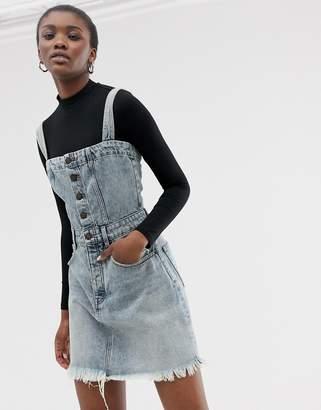Cheap Monday organic cotton mini dungaree dress