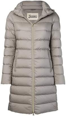 Herno padded zip front coat