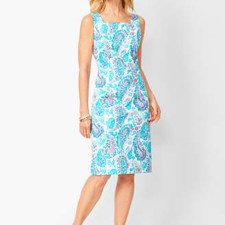 Talbots Fresco Paisley Sheath Dress