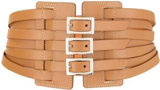 Maison Vaincourt wide multi buckle belt