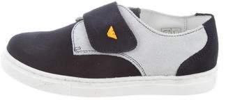 Armani Junior Boys' Suede Low-Top Sneakers