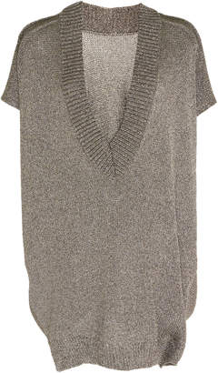 Roland Mouret Grace Oversize Lurex Sweater Vest