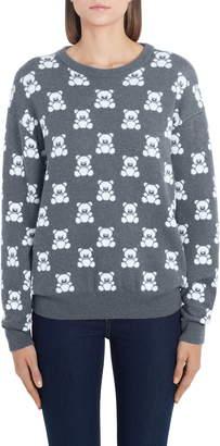 Moschino Checkerboard Bear Wool Sweater