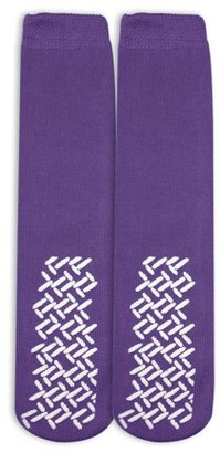 Health Care Products Nobles Solutions Nobles Assorted Anti Skid/ No Slip Hospital Gripper Socks, Great for adults, men, women. Designed for medical hospital patients but great for everyone (1 Pair Purple)
