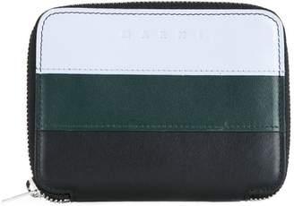 Marni tri-coloured zip around wallet