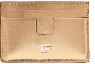 Tom Ford (トム フォード) - TOM FORD - Metallic Leather Cardholder - Gold