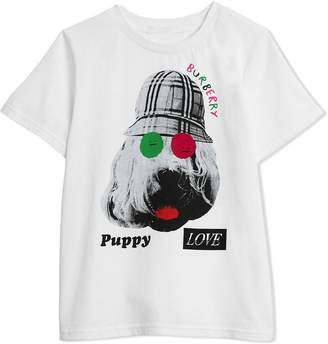 Burberry Dog Print Cotton T-shirt
