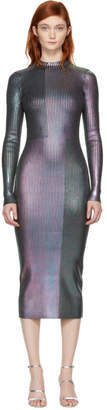 Christopher Kane Multicolor Long Foil Dress