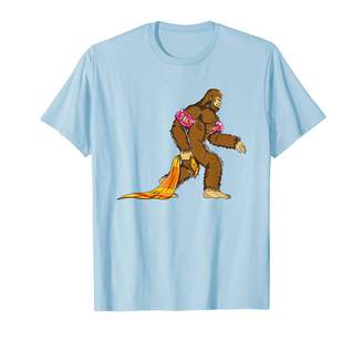 Pool' Vacation Apparel By Bubl Tees Bigfoot Pool Float Floaties For Kids Towel Sasquatch Yeti T-Shirt
