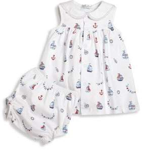 Kissy Kissy Baby's Two-Piece Seven Seas Cotton Printed Dress& Diaper Cover