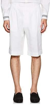 "Officine Generale Men's ""French"" Cotton-Linen Cuffed Shorts"