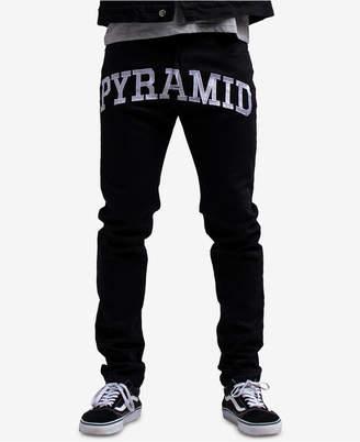 Black Pyramid Men's Checkered Logo Jeans