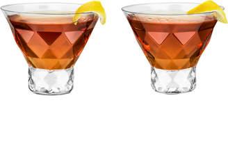 Raye Viski Gem Crystal Martini Glasses