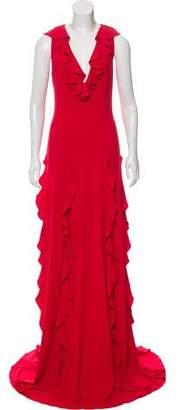 Gucci 2016 Ruffled Evening Dress