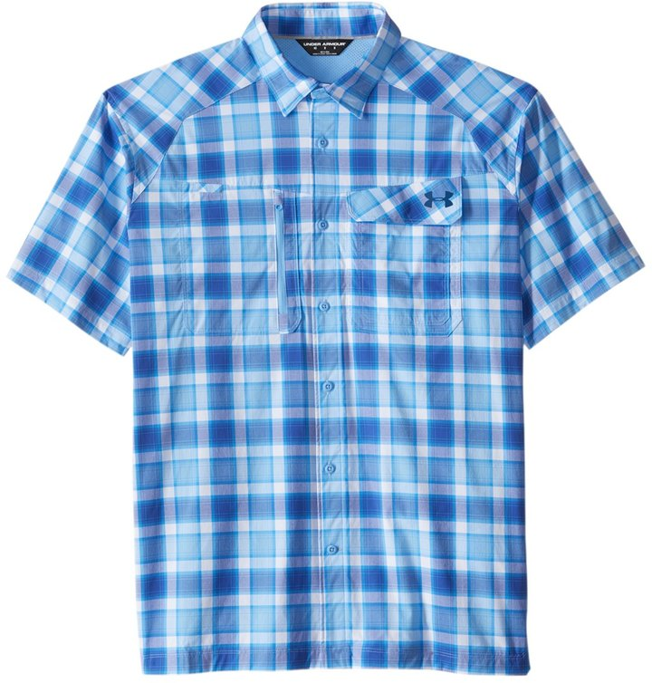 Under Armour Men's Fish Hunter Plaid Short Sleeve Shirt 8160270