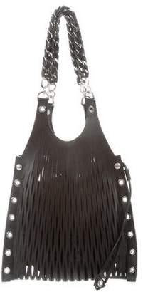 Sonia Rykiel Cutout Leather Shoulder Bag