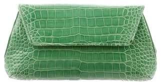 Judith Leiber Alligator Flap Clutch