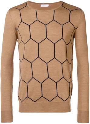 Boglioli knit patterned sweater